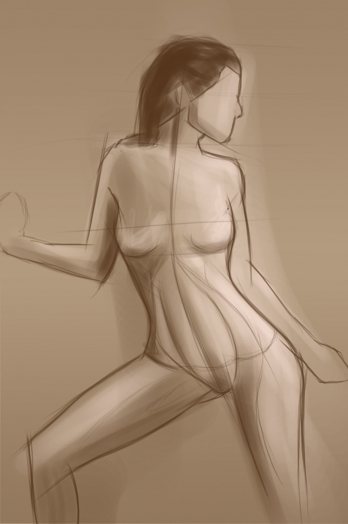 10 sketch female form