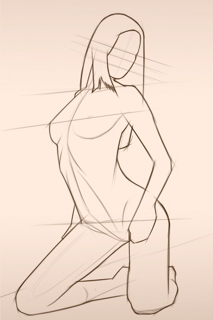 Chantal female body form 2 sketch