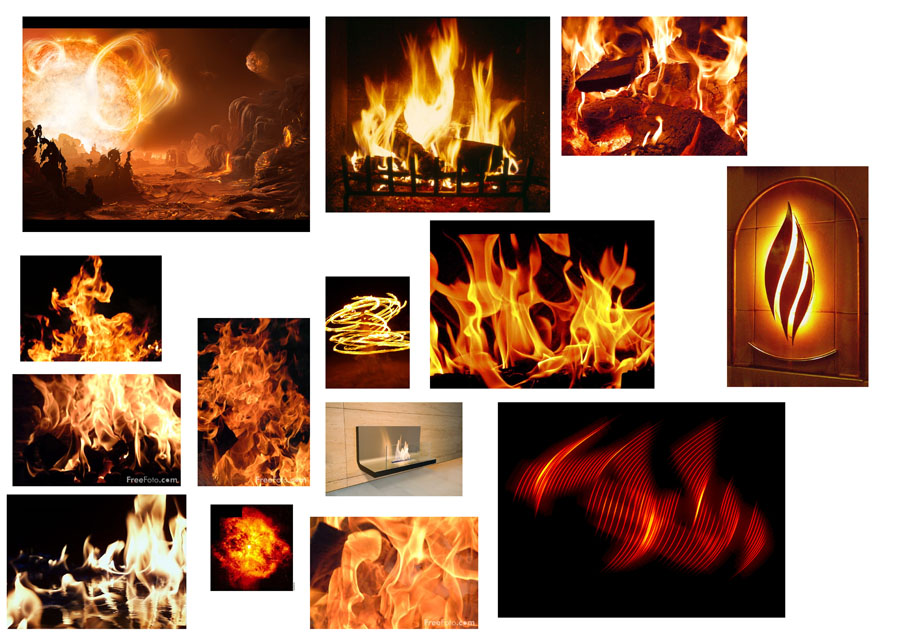 flames sculpture inspiration