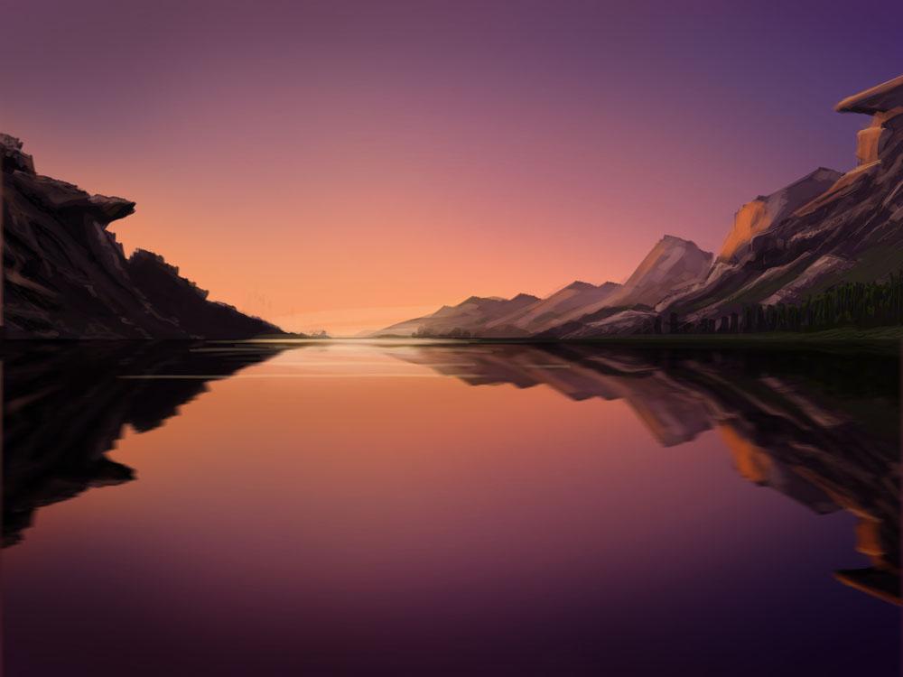 lake alsop painting - small