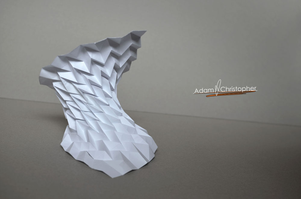 Pleated modern sculpture 4