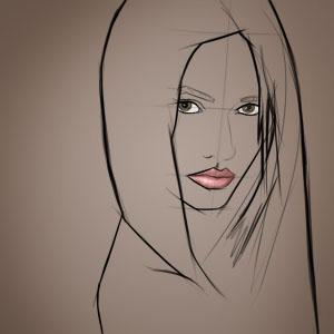 female face 300px
