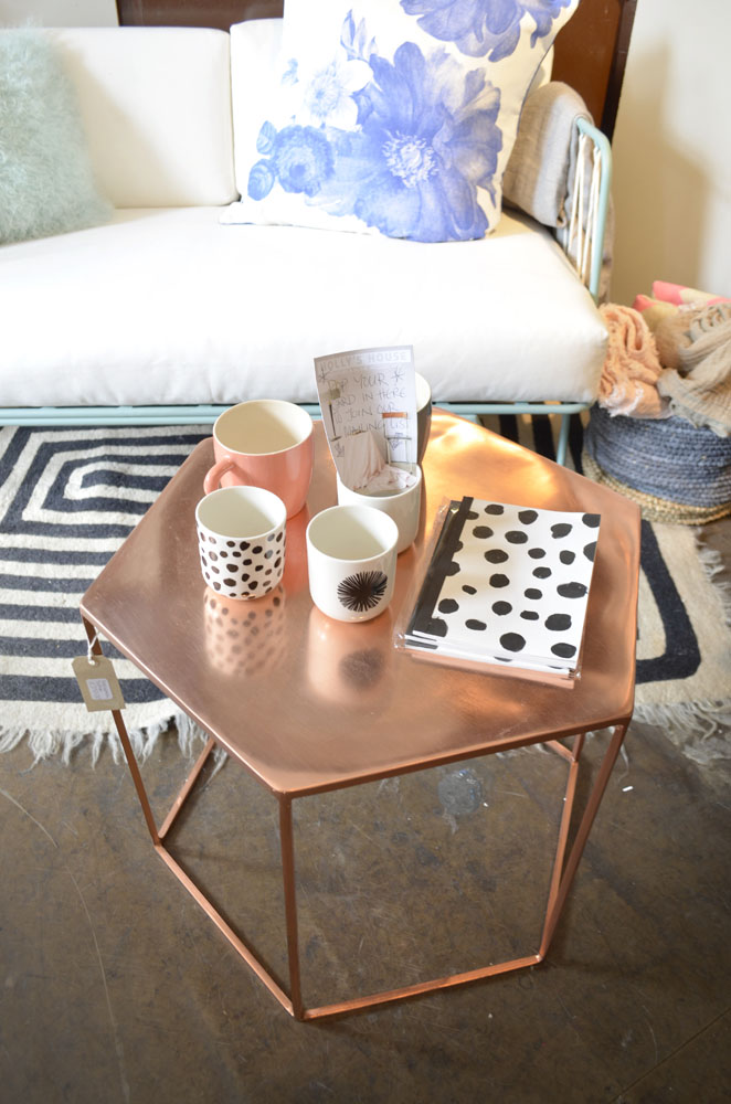Copper coffee table clerkenwell 1000