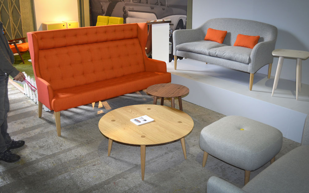 Orange sofa and coffee table clerkenwell 1000