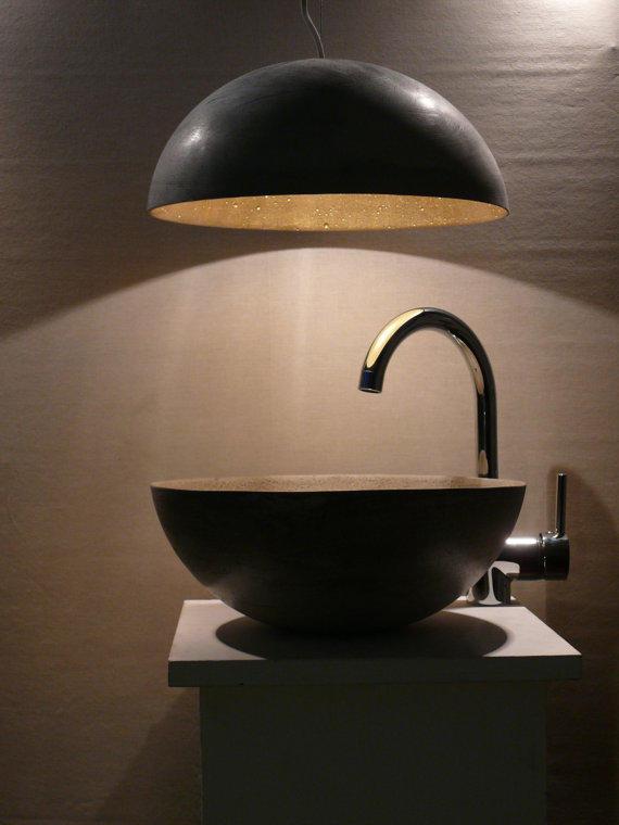 concrete lamp shade