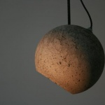 hanging concrete lamp shade