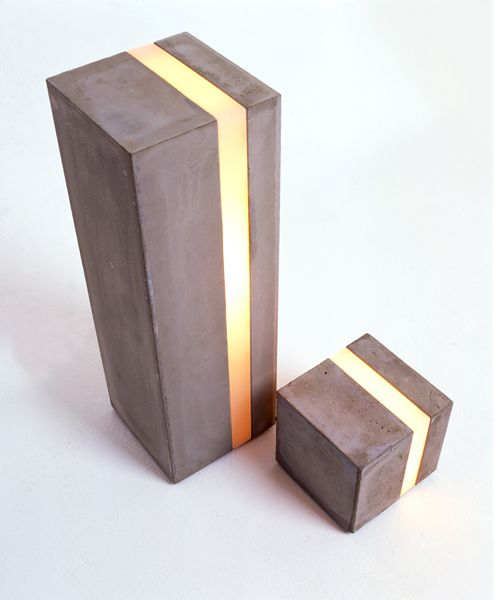 split light emiting concrete column