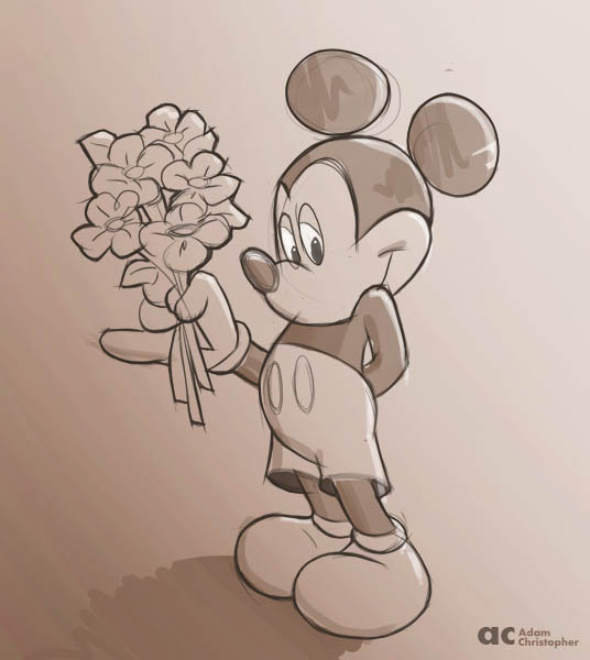 mickey with flowers 600px