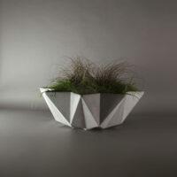 1 metre wide grey concrete modern planter