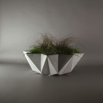 1 metre wide grey concrete modern planter