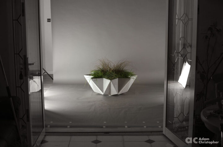 mood shot of large 1 metre bowl planter