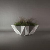 large concrete grey planter bowl