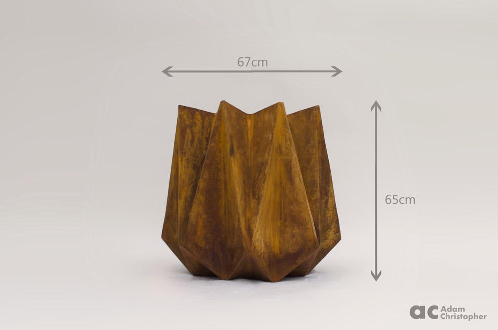 AC kronen tall corten steel dimensions
