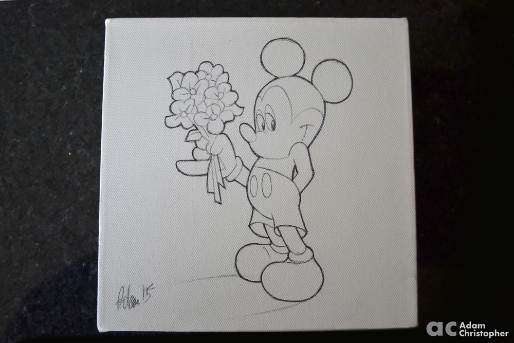 Mickey mouse sketch