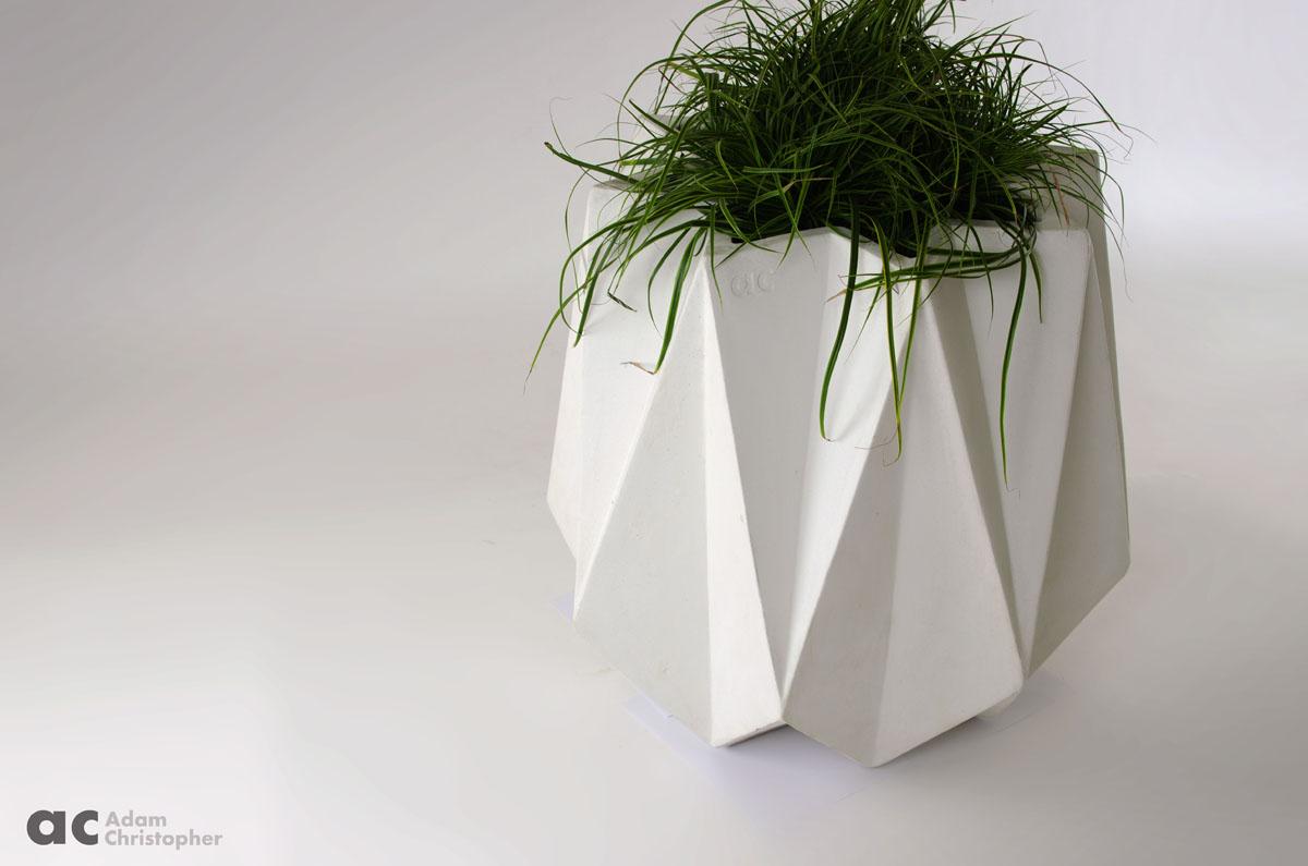 Large 74cm Geometric Garden Planter By Adam Christopher
