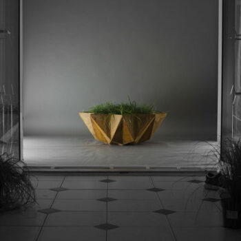 mood shot of modern 1 metre bowl planter