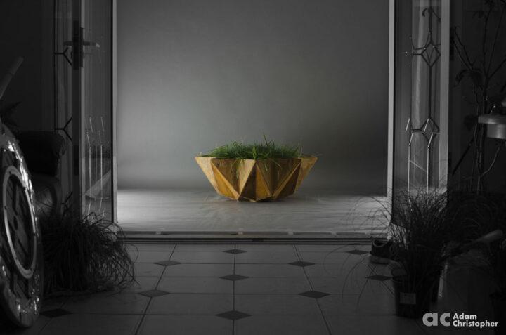 mood shot of modern 1 metre bowl planter