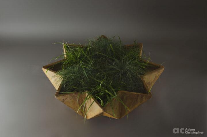 star shaped modern planter design 1 metre wide