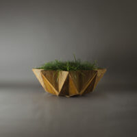large corten steel effect bowl planter