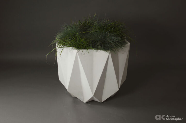 large contemporary concrete planter for outdoors