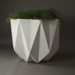 extra large modern concrete planter