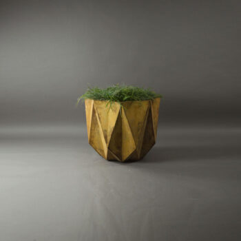 designer modern planter in rusty concrete