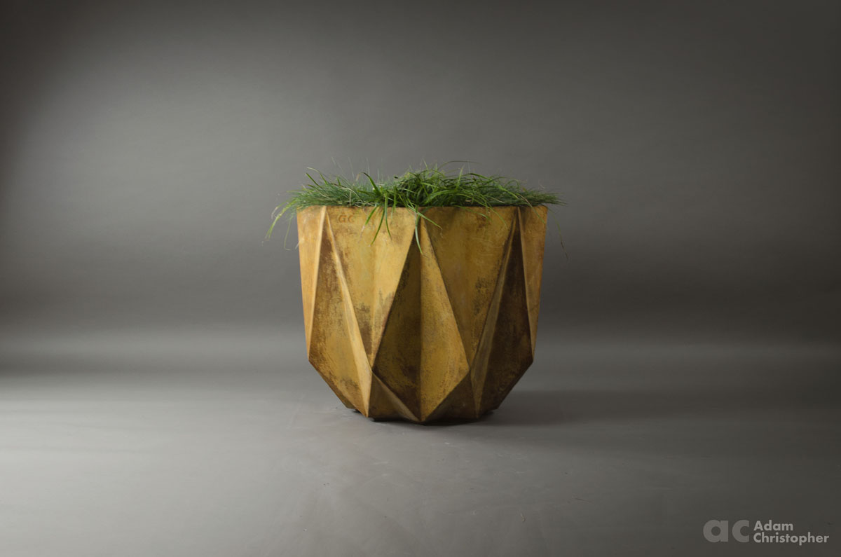 big contemporary steel planter