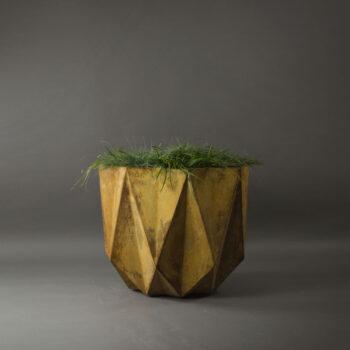 big commercial corten steel effect concrete planter