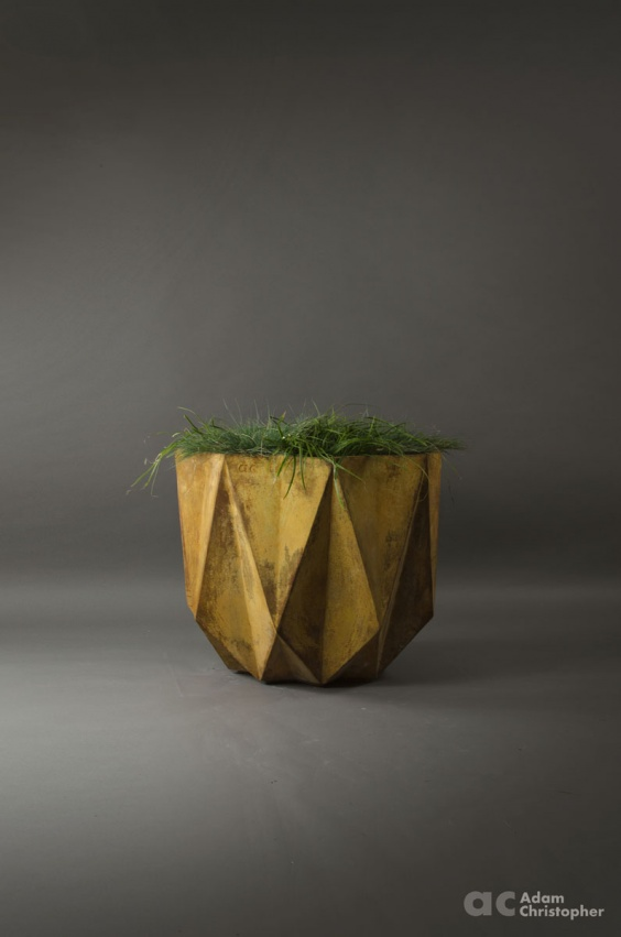 big commercial corten steel effect concrete planter