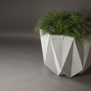 large modern concrete planter
