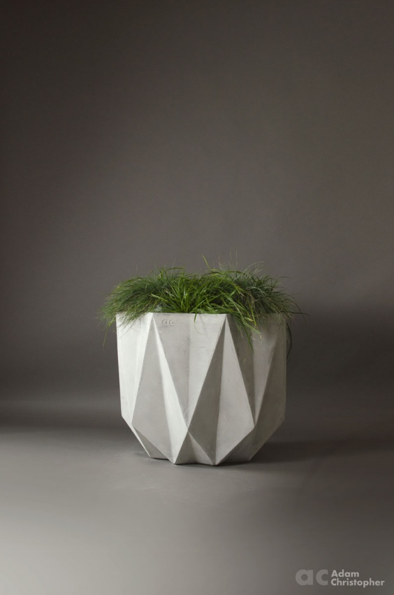 extra large modern concrete planter