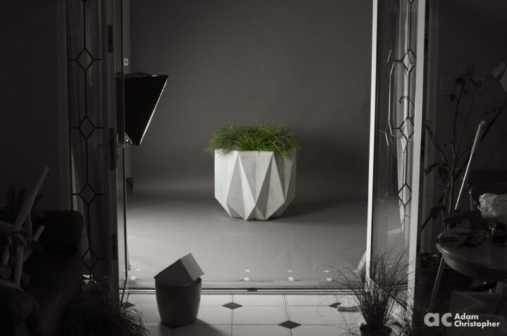 large geometric planter