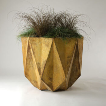 Large Corten steel effect planter