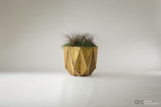 large modern rusted planter