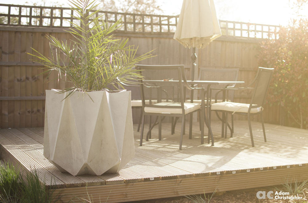 Garden photo shoot with kronen tall award winning for Design indoor plant pots uk