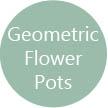 Geometric flower pots