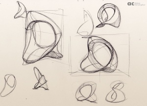 Unity ring contemporary sculpture sketch 8 small