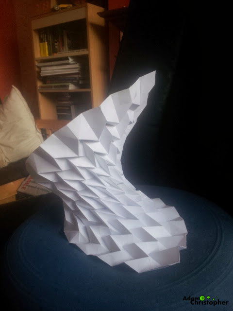 Origami shape adam christopher design