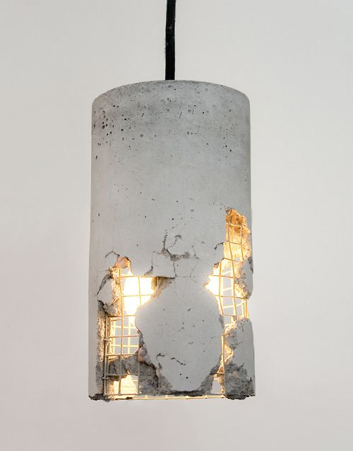 Rustic Concrete lamp shade