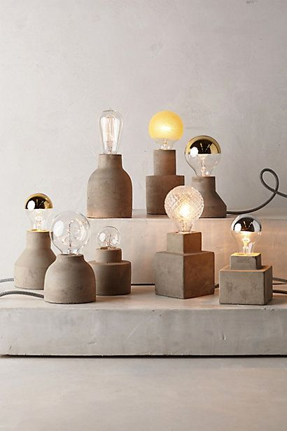 concrete bulb holders