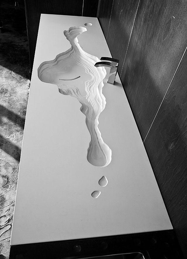 concrete sink top