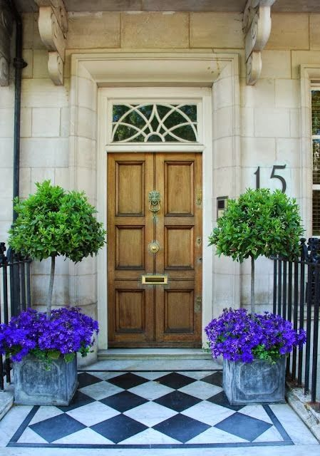 Planters guard wooden door