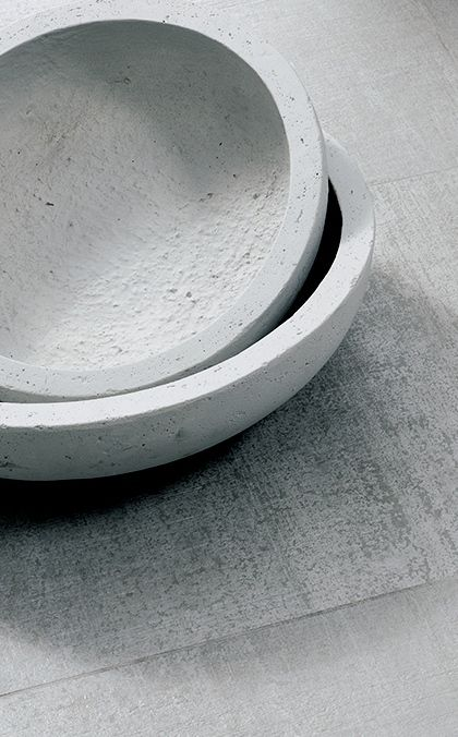 Concrete bowl crockery