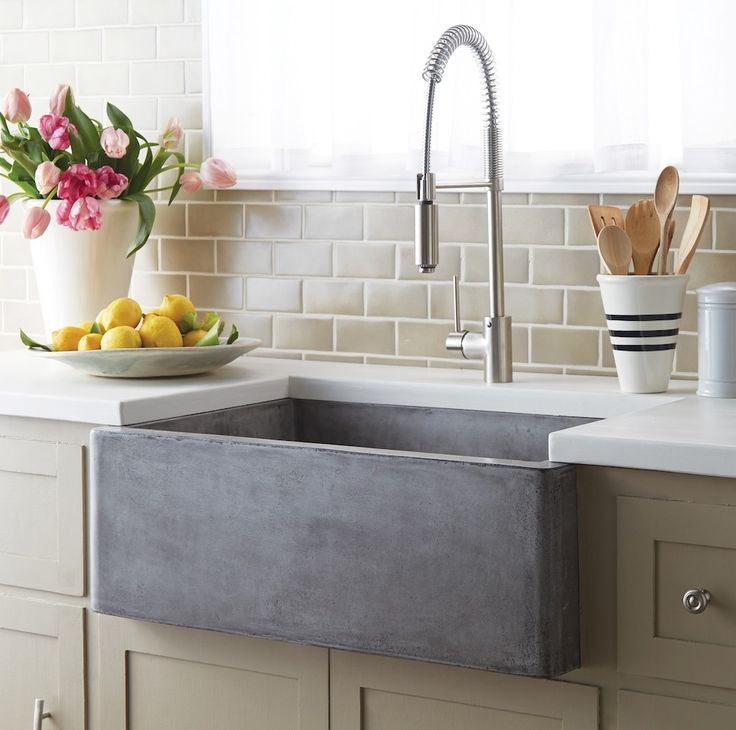 Fashionable concrete sink