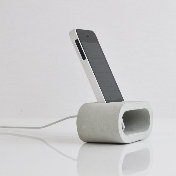 concrete phone holder