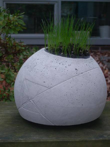 concrete planter ball