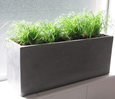 concrete window box planter