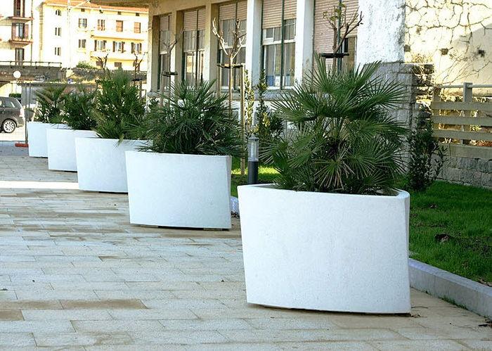 large white planters