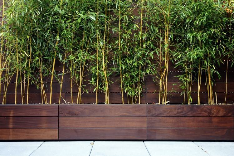 wooden architectural trough planters