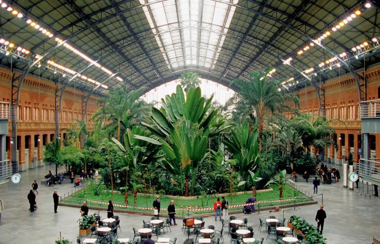 Huge interior landscape space
